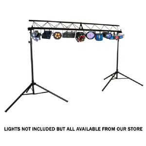 QTX 3m Professional Tri-Truss DJ Disco Band Lighting Stand System Easy Assemble